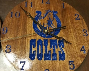 Indianapolis Colts Clock