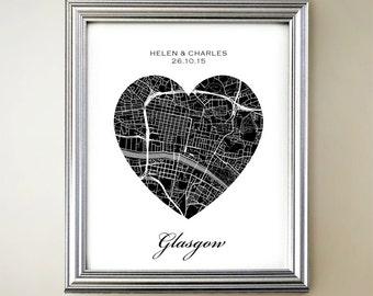 Glasgow Heart Map