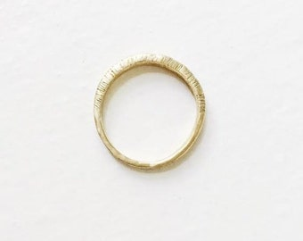 Fay Textured Brass Ring