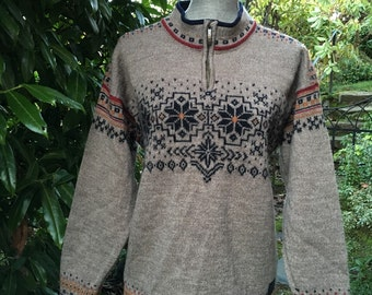 Dale of Norway, Norwegian wool sweater made in Norway. Size M