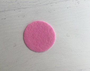 1 inch Pink Felt Circle, Felt backing, Felt Circles, Headband Supplies, Flower Backing, Lot of 10 or 20