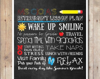 Retirement Poster Lesson Plan - Teacher