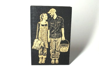 Custom couple stamp (Full body) -Free Shipping in Canada!