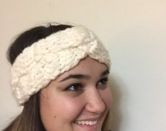 Loop Knotted Crochet Headband