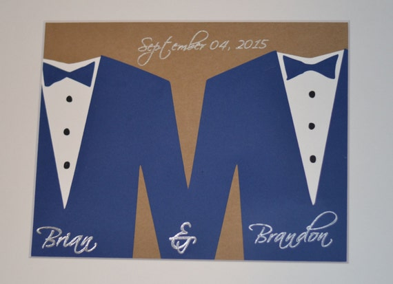 Same Sex Wedding Gift Ideas: Same Sex Wedding Gift Gay Wedding Gift Personalized Gay