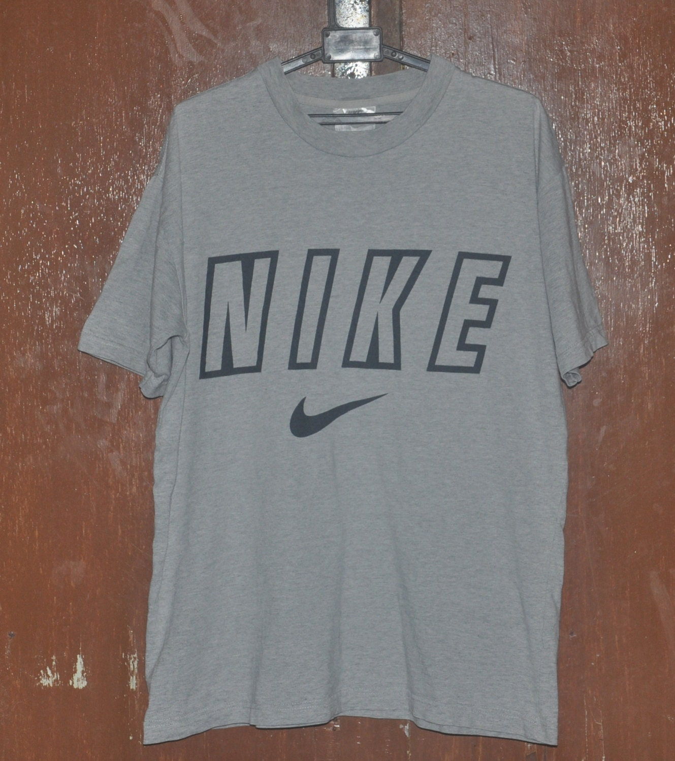 Nike swoosh big logo tee size medium 90s vintage t shirt for Nike swoosh logo t shirt