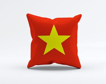 Flag of Vietnam Throw Pillow Cover 15 x 15 inch