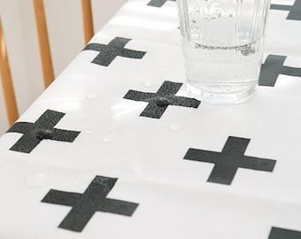 Laminated Modern Style Cross Pattern Cotton Fabric by Yard