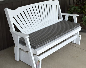 Yellow Pine Fanback 6ft. Porch Glider