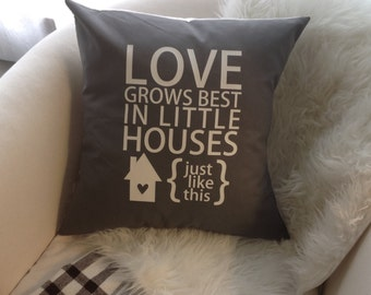 Love Grows Best Pillow