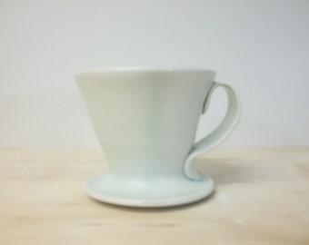 Celadon blue coffee pour-over