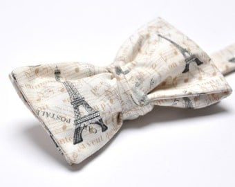 PARIS bow tie - Self Tie Bow Tie - Bow Tie for Man