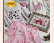 Baby Farm Animals Counted Cross Stitch Leaflet.