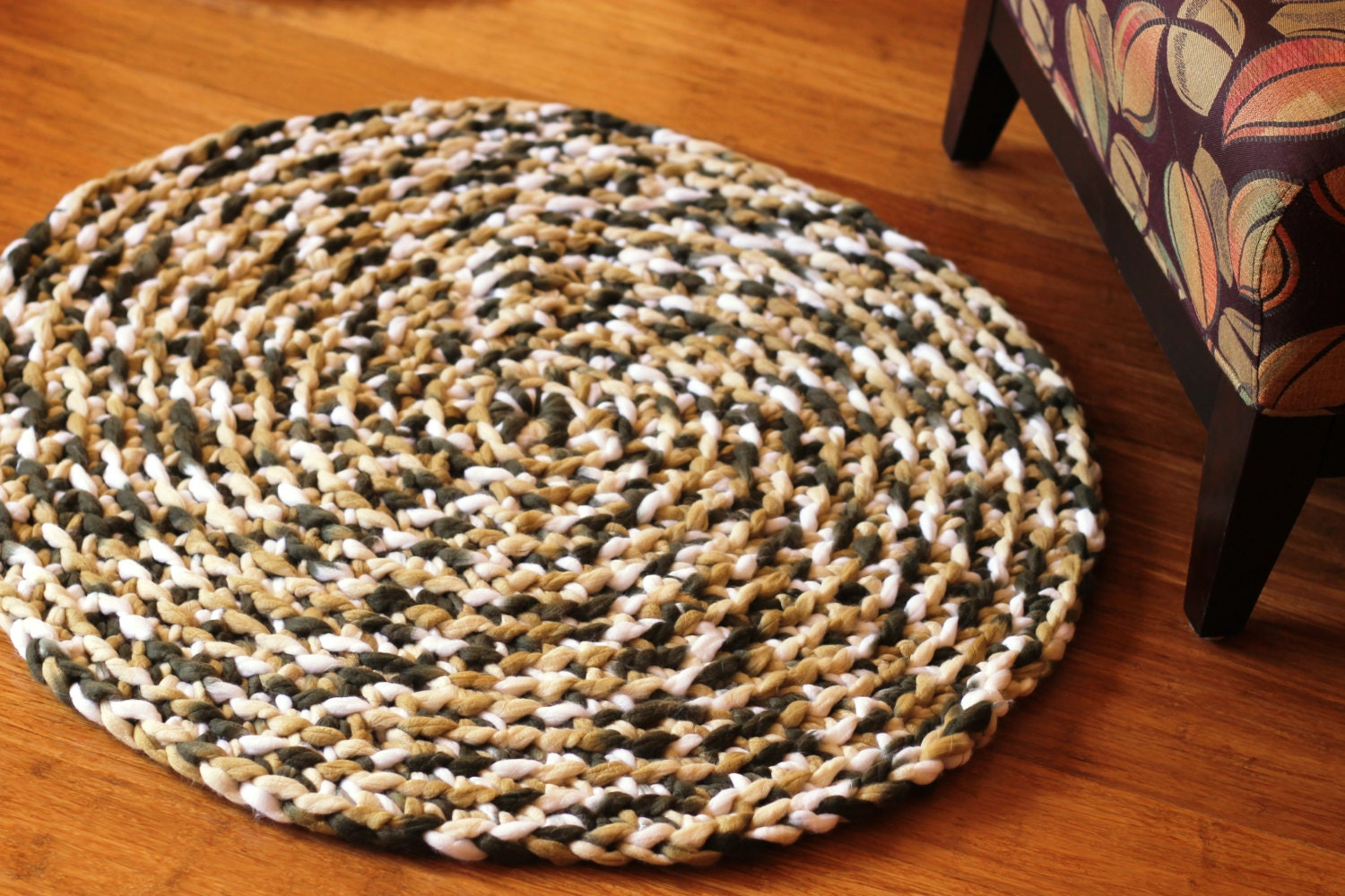 Braided Round Rug Bath Mat Pet Mat Handmade By Knitplaylove