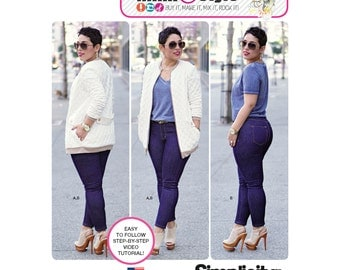 Simplicity Pattern  8222 Misses' Knit Jacket and Stretch Jeans