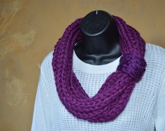 Perfect Plum Knit Scarf