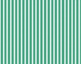 Gumdrops and Lollipops Mini Stripe Green - Quilting Treasures - Cotton fabric - Choose your cut