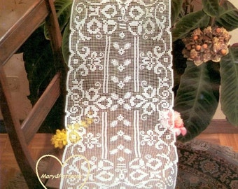 PDF Crochet pattern table runner -Crochet doily - Home decor - vintage  crochet