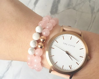Blush and Marble Bracelet