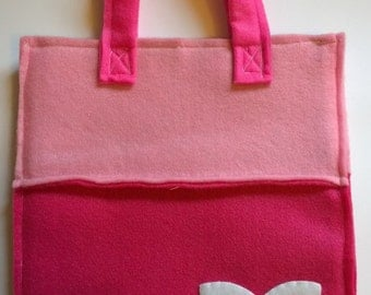 Handmade dark pink butterfly bag