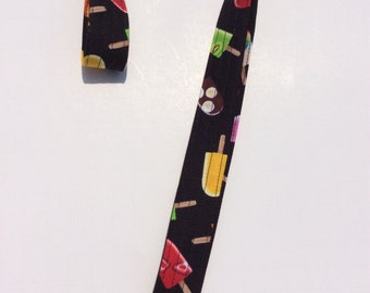 Popsicles Lanyard Keychain Novelty ID Badge Holder Camera Strap