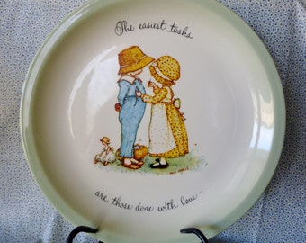 Holly Hobbie Vintage Collectible Plate