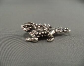 STERLING SILVER Horned Toad Charm for Charm Bracelet