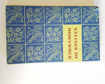 """Vintage 1958 """"Sayings of Mohammed"""" Peter Pauper Press  Mt. Vernon, NY"""