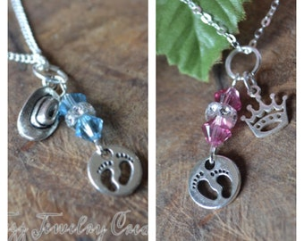 Mother to be Necklace, New Mother Necklace- Baby Boy or Girl Necklace for Mom- Baby Shower Gift- Delivery Gift
