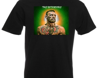 Mens T-Shirt Conor McGregor MMA Legend / Fighter Club Shirt / Notorious Champion Tshirt / Stunning Picture Tee Shirt + Free Decal Gift