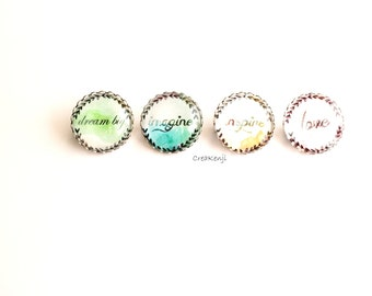 PIN poetic cabochon watercolor Inspiration