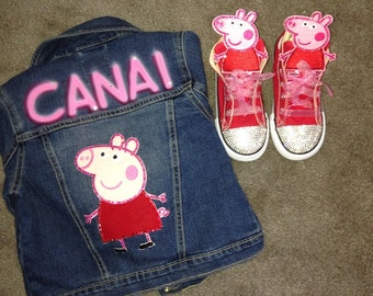 Peppa Pig shoes and Jacket