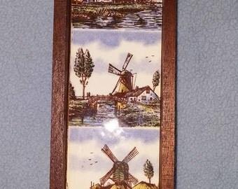 Vintage Mini Holland Tile Framed