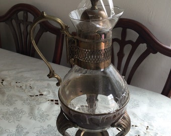 Vintage Coffee Pot with Candle Warmer