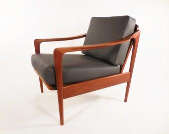 Mid century Danish teak lounge chair
