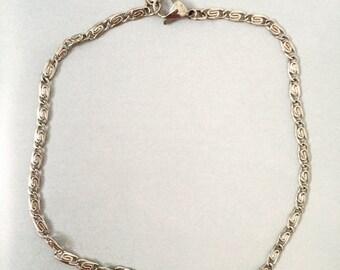 Thin Silver Chain Choker || Tide Choker