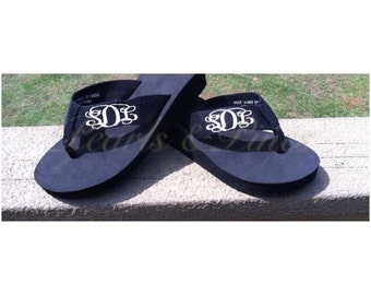 Spring Fling sale... Today ...Adorable monogram/personalized flip flops...perfect for that summer day