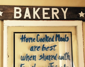 Bakery sign, rustic wood sign