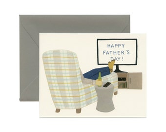 """Dad's Recliner Father's Day Card - """"Happy Father's Day!"""" - ID: DAD051"""