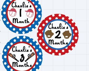personalized monthly onesie stickers
