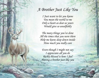 Personalized Poem A Brother Just Like You