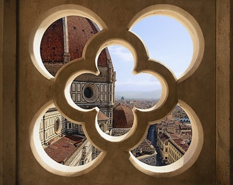 Window to Il Duomo, Florence, Tuscany, Italy, Firenze, Cathedral, Church, Window - Travel Photography, Print, Wall Art