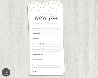 Wishes for Baby Twinkle Twinkle Little Star Baby Shower/Instant Download