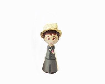 Child figurine - peg doll child 6cm