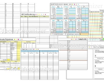 Salon or Small Business Appointment Book / Expense Tracker / Organizer - Spiral Bound for 2016