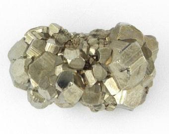 Rare Vintage Natural Pyrite Nuggets Pin / Brooch