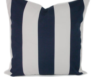 Navy Blue Outdoor Pillow Cover, Outdoor Cushions, Patio Cushions, Outdoor  Throw Pillow,