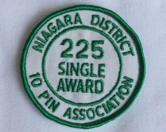 Bowling League Vintage 1980s Award Patch