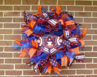 Auburn Wreath, Auburn Mesh Wreath, War Eagle Wreath, Football Wreath, College Wreath, College Football Wreath, AU Wreath