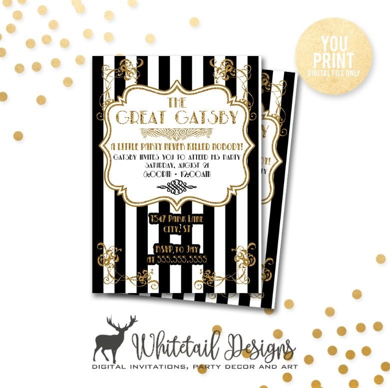 zoom - Great Gatsby Party Invitations